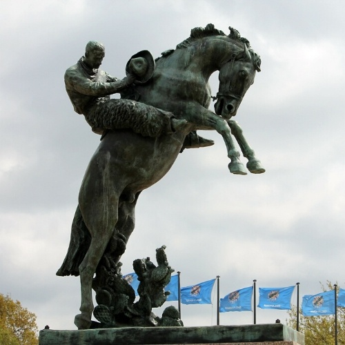 A statue located in Oklahoma's capital