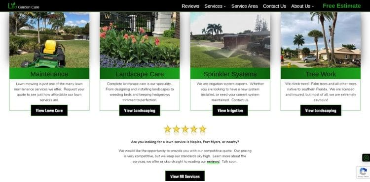 lawn business search optimization