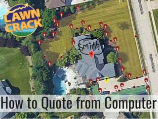 Quoting Lawn Services from the Computer