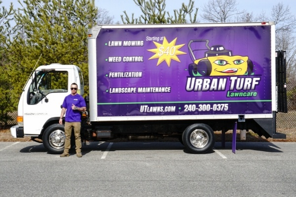 A Urban Turf work truck