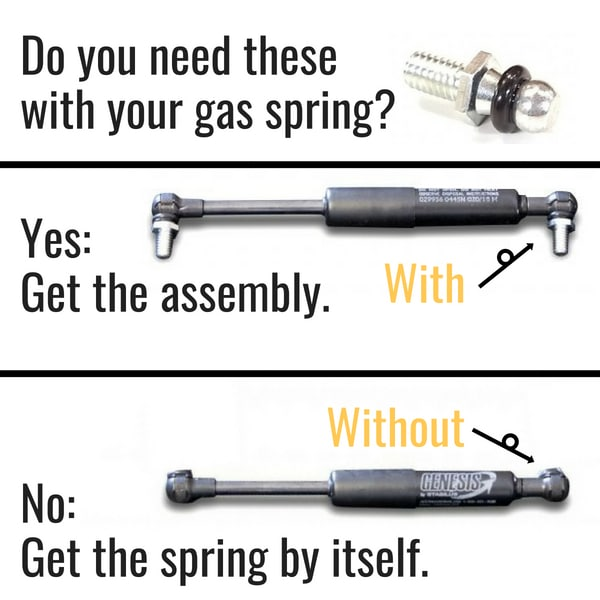 Proslide XT Gas Spring Assembly 3